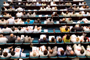 Top view at audience